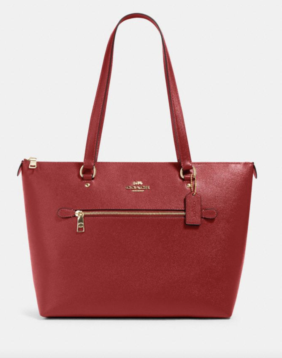 Gallery Tote in Red (Photo via Coach Outlet)