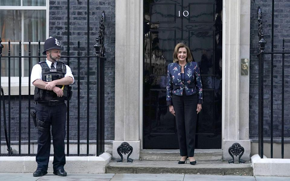 Nancy Pelosi visited Downing Street last week to talk face-to-face with the PM - Kirsty O'Connor/PA Wire