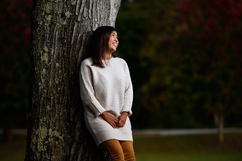 Fatima Quintana poses for a portrait at Poinsett Park Thursday, Oct. 22, 2020.