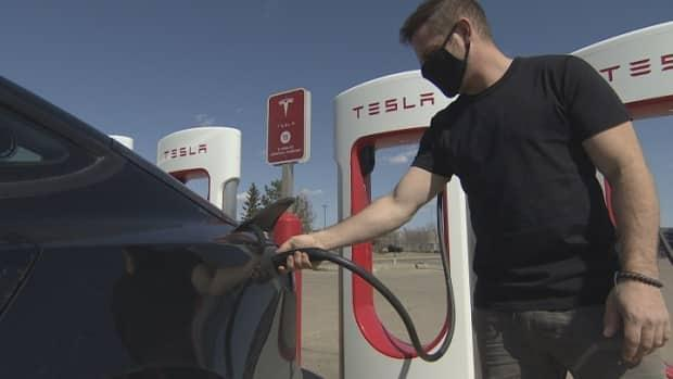 Finance Minister Donna Harpauer said Saskatchewan is the first province in Canada to introduce a tax on passenger electric vehicles. The province is also looking into taxing charging stations.  (Matt Duguid/CBC  - image credit)