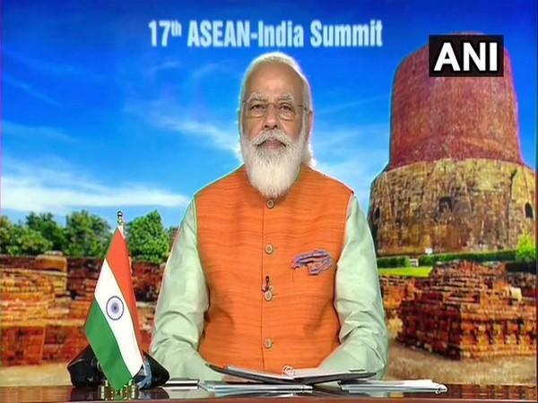 Prime Minister Narendra Modi speaking during the 17th ASEAN-India Summit on Thrusday.