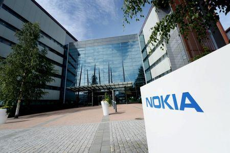 The Nokia headquarters is seen in Espoo
