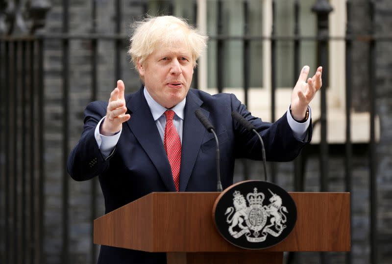 PM Johnson says trade deal is up to the EU