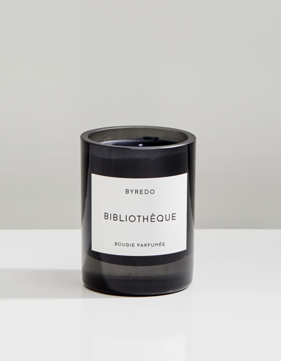 """<p><strong>BYREDO</strong></p><p>nordstrom.com</p><p><strong>$85.00</strong></p><p><a href=""""https://go.redirectingat.com?id=74968X1596630&url=https%3A%2F%2Fwww.nordstrom.com%2Fs%2Fbyredo-bibliotheque-candle%2F4772001&sref=https%3A%2F%2Fwww.housebeautiful.com%2Fshopping%2Fhome-accessories%2Fg36279079%2Fdesigners-favorite-candles%2F"""" rel=""""nofollow noopener"""" target=""""_blank"""" data-ylk=""""slk:BUY NOW"""" class=""""link rapid-noclick-resp"""">BUY NOW</a></p><p>""""I've just been buying this for years. The packing is the opposite of Buly—super modern and clean. They also have a great travel edition for scents.. love <a href=""""https://urldefense.com/v3/__https://www.byredo.com/us_en/travel-perfume-case-burgondy__;!!Ivohdkk!3_xqCWRMtVwzAuWm4btEdd4FUXT4-F4xF5o4EgbK0EZV4lkYUHRghLb-uAAM8DXkv3N26A$"""" rel=""""nofollow noopener"""" target=""""_blank"""" data-ylk=""""slk:this"""" class=""""link rapid-noclick-resp"""">this</a> one."""" — Patrick McGrath </p>"""