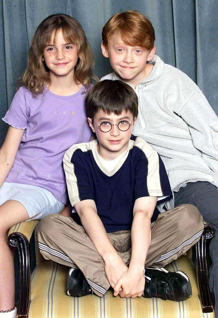<p><strong>Taken: </strong>At a photocall for <em>Harry Potter and the Philosophers Stone </em><em>2001</em> when the three lead actors were aged between 10 and 11.</p><p><strong>Breakthrough: </strong>Immediately after the first film was released, we can probably guess that life was never normal again for the three actors.</p>