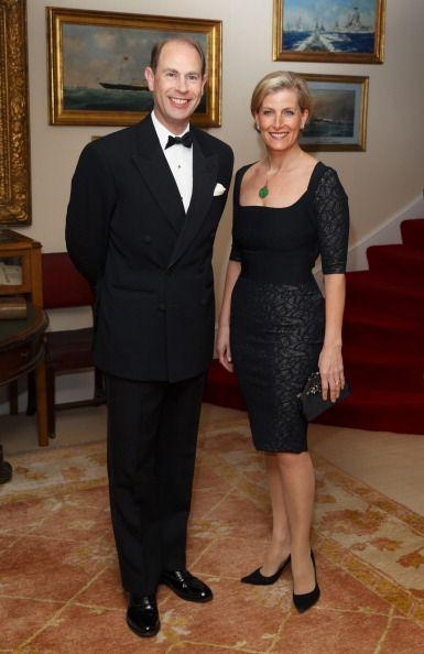 <p>Sophie and Edward looking quite sleek for a formal evening.</p>