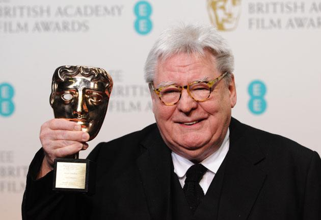 Sir Alan Parker, winner of the Fellowship award, poses in the press room at the EE British Academy Film Awards at The Royal Opera House on February 10, 2013 in London, England. (Photo by Stuart Wilson/Getty Images)