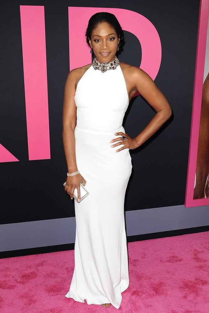 d320bf1de847 Tiffany Haddish Recycles Her White SNL Dress Once Again