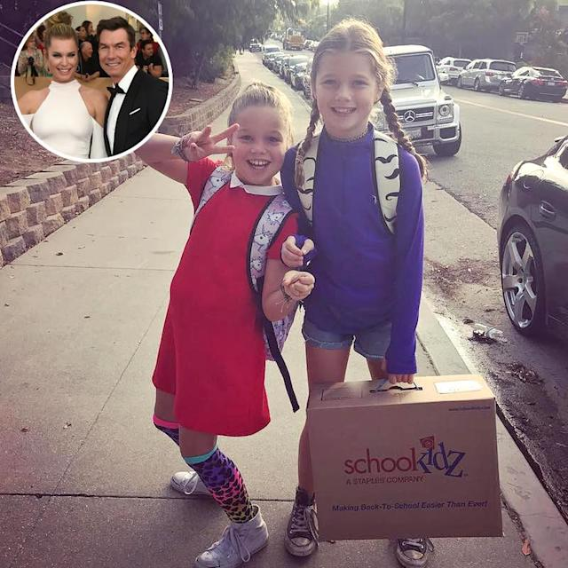 "<p>The fashionable twin daughters of Rebecca Romijn and Jerry O'Connell are officially third-graders. ""Big girls!"" mom marveled. (Photos: <a href=""https://www.instagram.com/p/BYJArLkHRhP/?hl=en&taken-by=rebeccaromijn"" rel=""nofollow noopener"" target=""_blank"" data-ylk=""slk:Rebecca Romijn via Instagram"" class=""link rapid-noclick-resp"">Rebecca Romijn via Instagram</a>/AP Images)<br><br></p>"