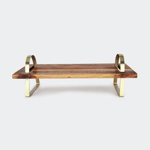 The wooden serving tray is $18 from Kmart. Photo: Kmart