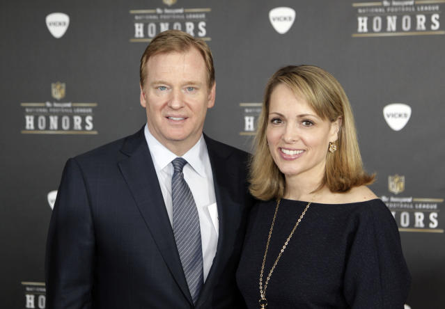 during the inaugural NFL Honors show Saturday, Feb. 4, 2012, in Indianapolis.The New York Giants will face the New England Patriots in the NFL football's Super Bowl XLVI in Indianapolis on Feb. 5. (AP Photo/David Stluka)