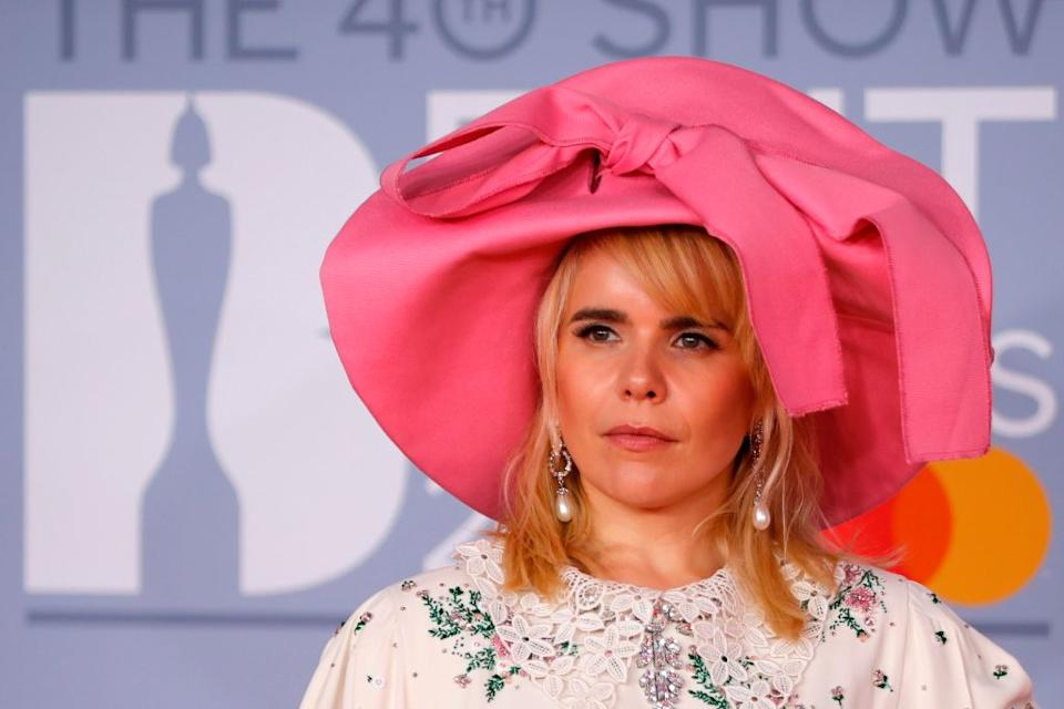Paloma Faith has given an update on her second pregnancy, pictured at the Brit Awards in February 2019. (Getty Images)