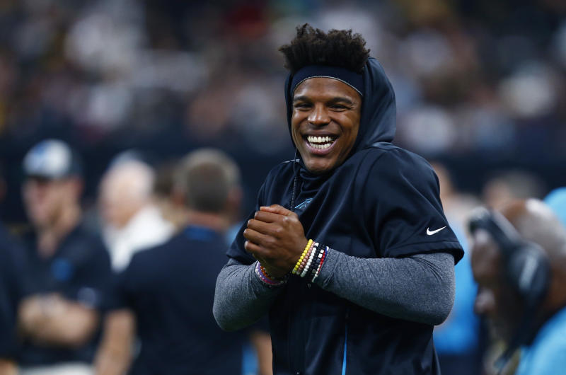 It took over a week, but the Patriots finally announced the Cam Newton signing. (AP Photo/Butch Dill)