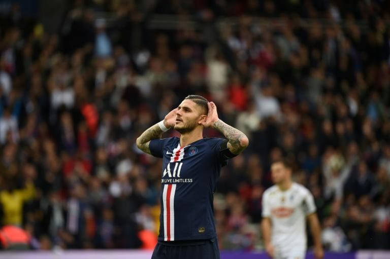 Mauro Icardi has refound his shooting boots since swapping Milan for Paris (AFP Photo/Lucas BARIOULET)