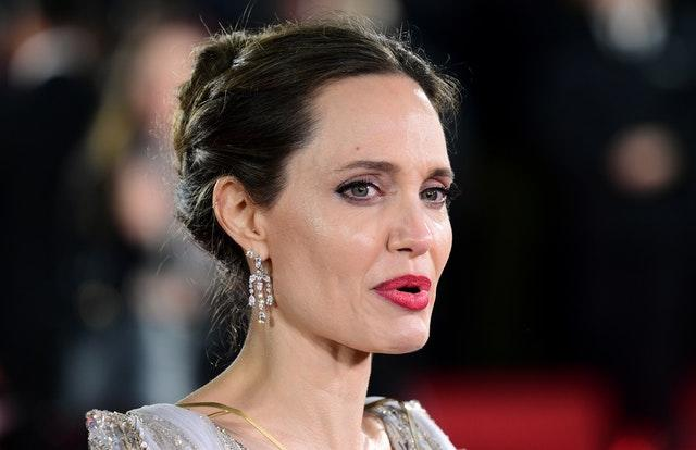 Angelina Jolie attending the Maleficent: Mistress of Evil premiere