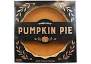 <p>No need to slave over the stove. This pie is actually made from scratch by TJ's pie supplier and has the <strong>perfect custard-y filling, classic pumpkin pie notes and flaky crust.</strong> Enjoy with a scoop of ice cream or just as is. </p>