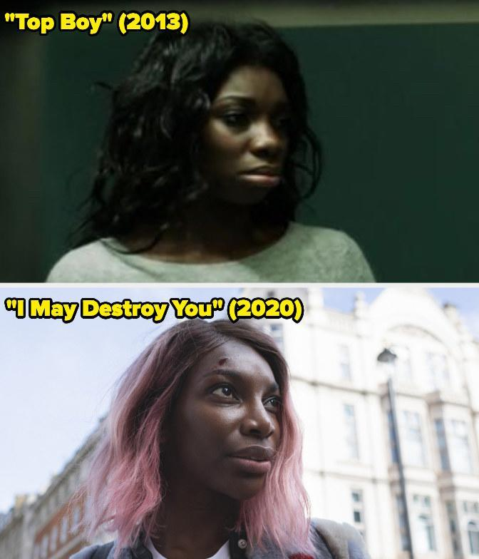 Then: She played Kayla on the British seriesTop Boy.Now: She won the Emmy forOutstanding Writingin a Limited or Anthology Series or Movie for her showI May Destroy You.