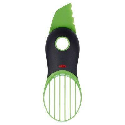 """<p><strong>OXO</strong></p><p>target.com</p><p><strong>$9.99</strong></p><p><a href=""""https://www.target.com/p/oxo-3in1-avocado-slicer-green/-/A-14579706"""" rel=""""nofollow noopener"""" target=""""_blank"""" data-ylk=""""slk:Shop Now"""" class=""""link rapid-noclick-resp"""">Shop Now</a></p><p>This avocado slicer is an all-in-one avocado beast! Split, remove the pit and slice an avocado in less than one minute.</p>"""