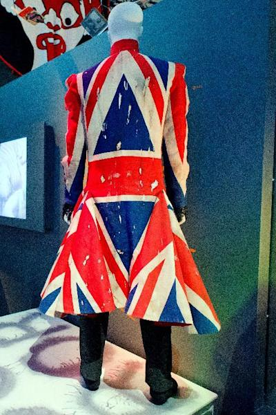 Union Jack coat designed by Alexander McQueen and worn by musician David Bowie