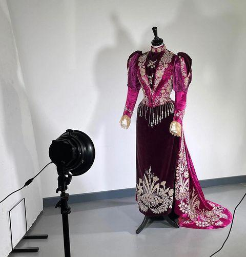"""<p>'Vintage dealers and third-party websites often put mark-ups on pieces, so why not go straight to the source and bid at auction? It's an exciting and unique way to shop for pieces by Vivienne Westwood and Alexander McQueen for Givenchy couture, and the quality is superb.'</p><p><a href=""""https://www.instagram.com/p/CRjktpEABIu/"""" rel=""""nofollow noopener"""" target=""""_blank"""" data-ylk=""""slk:See the original post on Instagram"""" class=""""link rapid-noclick-resp"""">See the original post on Instagram</a></p>"""