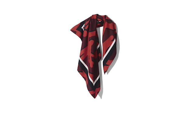 "<p><i>Patterned scarf, $30, <a href=""http://www.hm.com/us/product/75915?article=75915-A#campaign=CAMP_LADIES_STUDIO-AW2017-WOMEN&shopOrigin=CA&webShopOrigin=CA"" rel=""nofollow noopener"" target=""_blank"" data-ylk=""slk:hm.com."" class=""link rapid-noclick-resp"">hm.com.</a> (Photo courtesy of H&M) </i></p>"