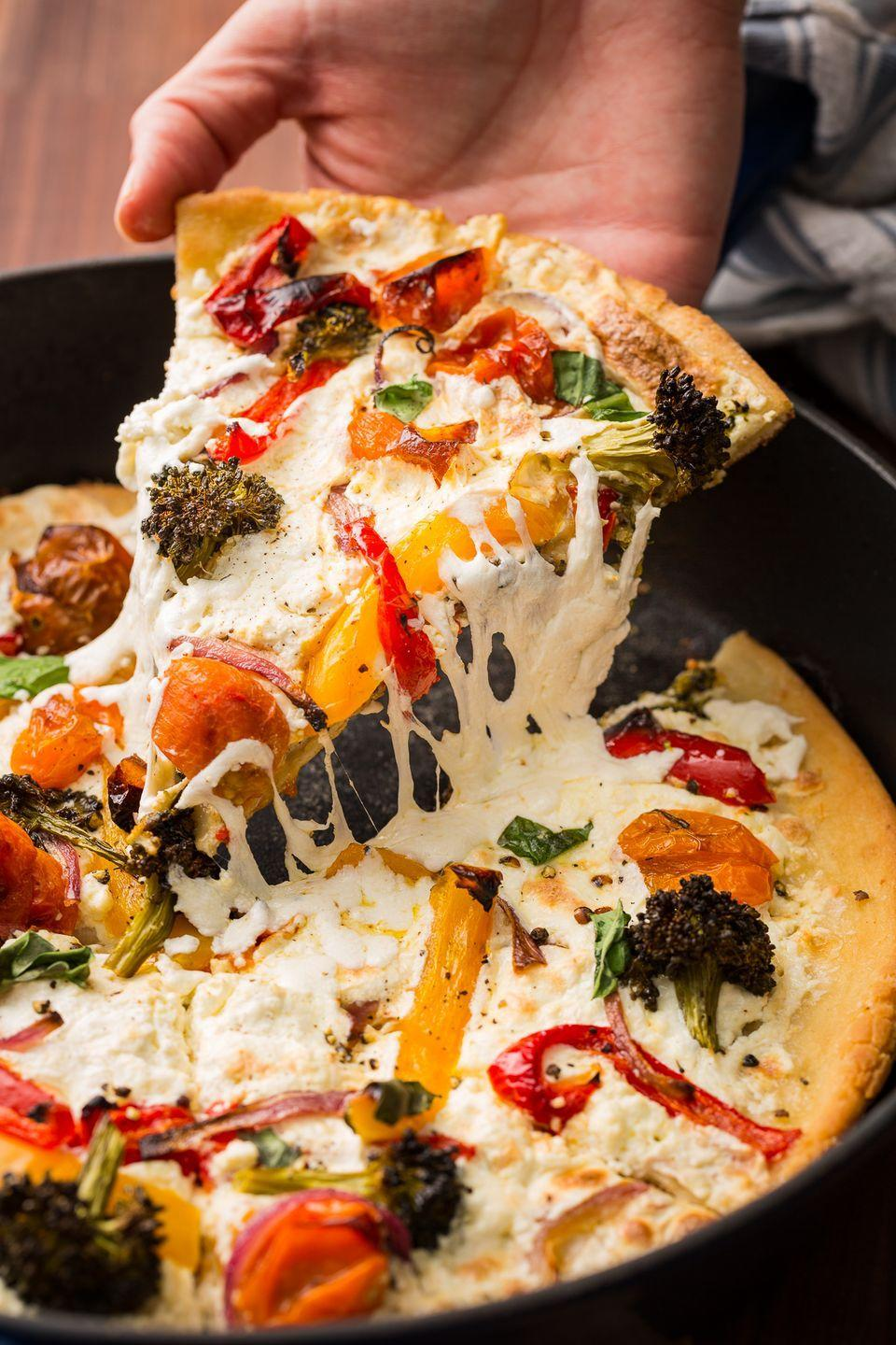 "<p>Veggies on pizza are better than any salad.</p><p>Get the recipe from <a href=""https://www.delish.com/cooking/recipe-ideas/recipes/a46837/primavera-skillet-pizza-recipe/"" rel=""nofollow noopener"" target=""_blank"" data-ylk=""slk:Delish"" class=""link rapid-noclick-resp"">Delish</a>.</p>"
