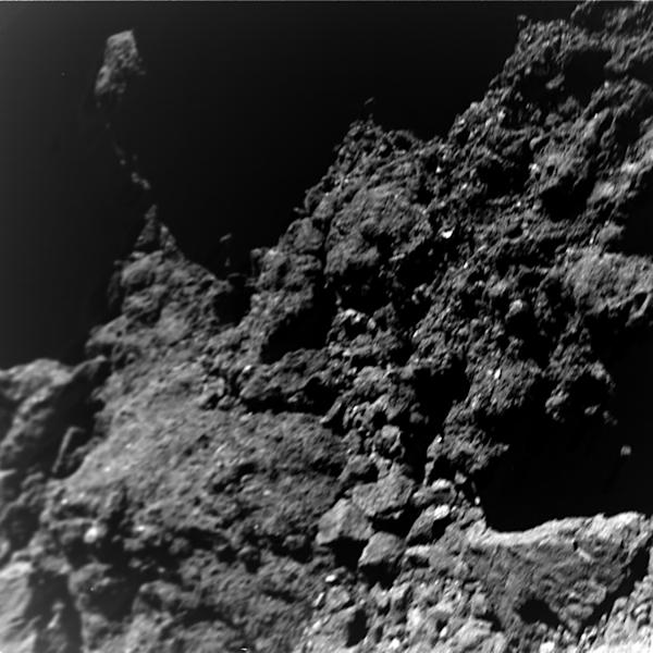 A new image taken by the German-French Mobile Asteroid Surface Scout (MASCOT) on the surface of the near-Earth asteroid Ryugu