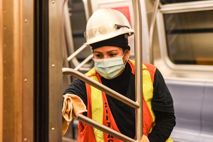 New York City Disinfects Subway Stations To Combat Coronavirus Pandemic