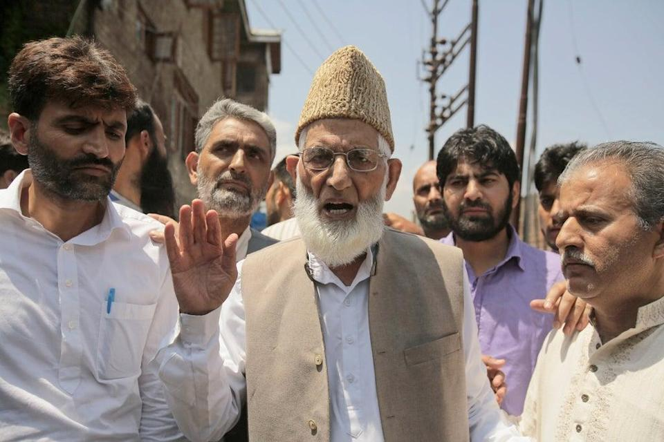 Kashmiri leader  Syed Ali Shah Geelani died due to age-related ailments  (Copyright 2016 The Associated Press. All rights reserved. This material may not be published, broadcast, rewritten or redistribu)