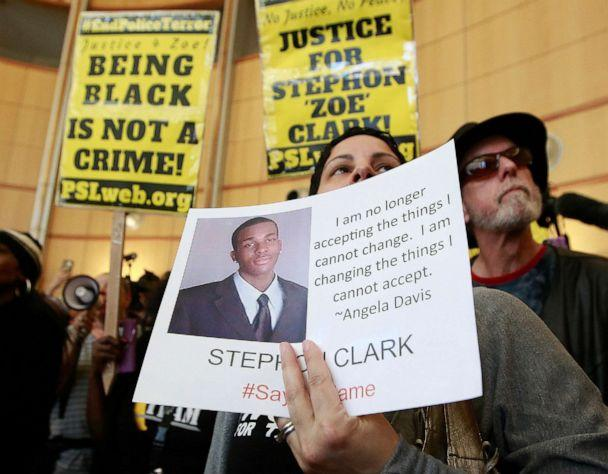 PHOTO: The shooting death of Stephon Clark helped spur the passage of two laws to take effect in 2020 giving California one of the nation's most comprehensive approaches to deterring shootings by police. (Rich Pedroncelli/AP)