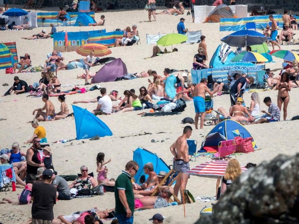 Temperatures up to 29C have been recorded across England and Wales this week  (Getty)