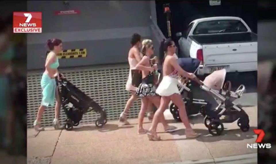 A group of Irish women in Brisbane are accused of leaving trashed apartments without paying rent. Source: 7 News