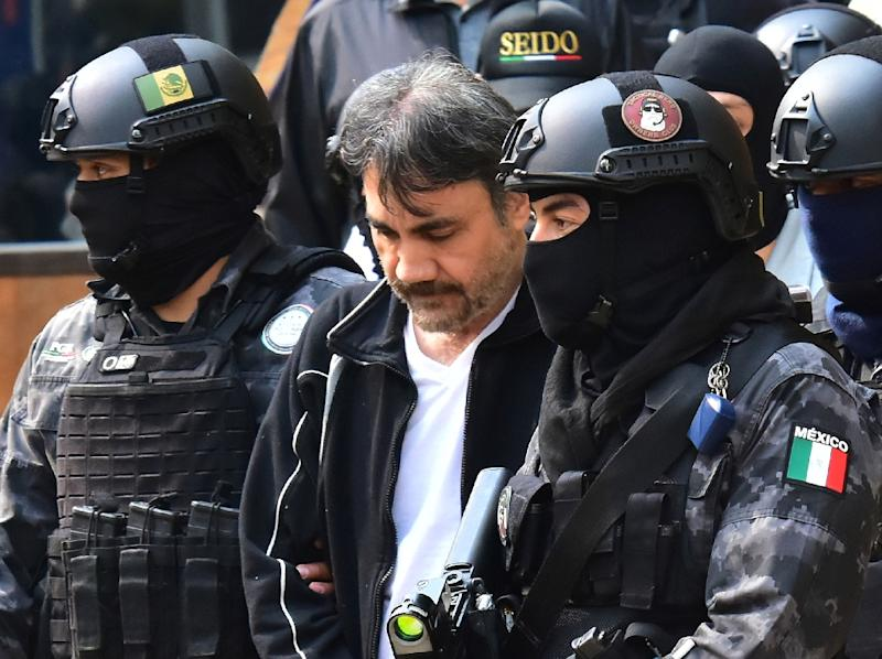 Mexican security forces arrested Damaso Lopez, a top Guzman lieutenant, in May 2017 (AFP Photo/STR)