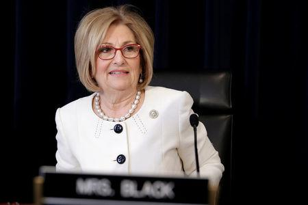 House Budget Committee Chairman Diane Black (R-TN) arrives for the markup of the American Healthcare Act on Capitol Hill in Washington, U.S., March 16, 2017.      REUTERS/Joshua Roberts