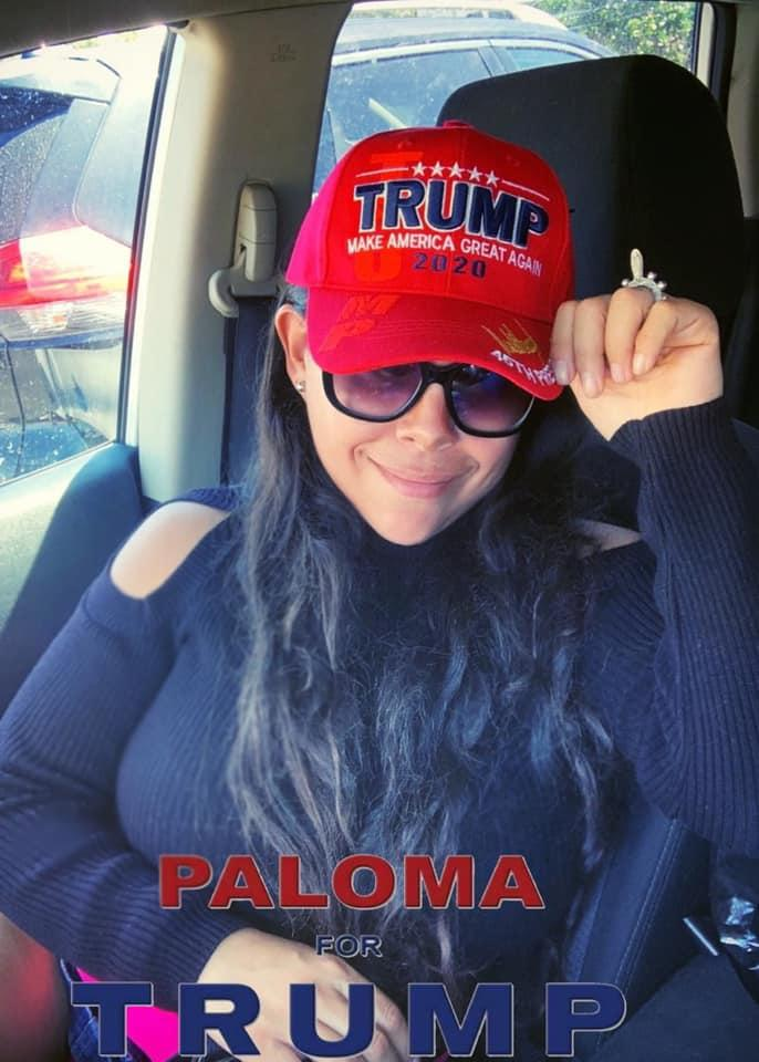 8e1f662d241 Paloma Zuniga was harassed by a woman in a California post office for  wearing a MAGA hat. (Photo  Facebook Paloma for Trump)