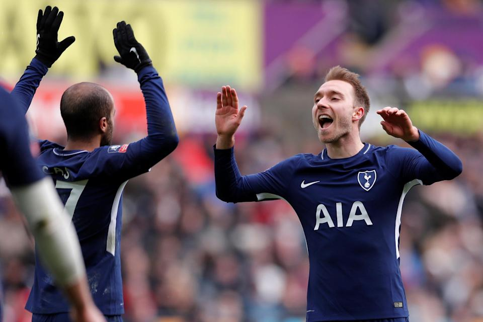 <p>Former Tottenham midfielder Eriksen has been linked with Arsenal.</p>Action Images via Reuters