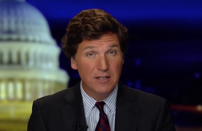 File: Tucker Carlson claims the mandatory vaccine rule was a 'new political purity test'  (Fox News)