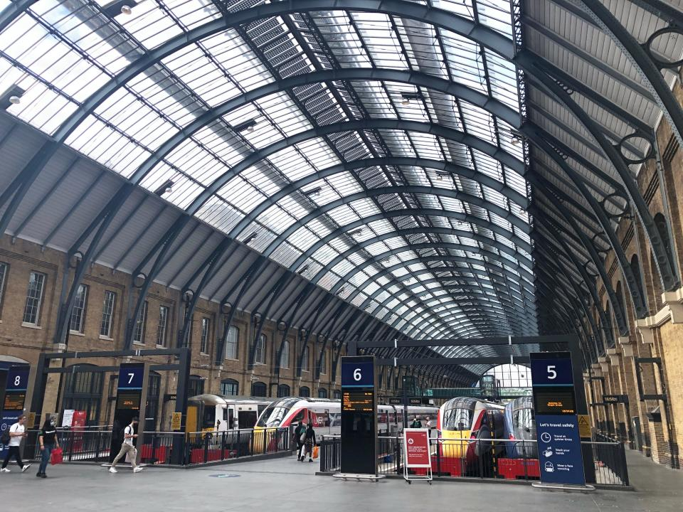 Going places? King's Cross station in London, the terminus for the East Coast main line (Simon Calder)
