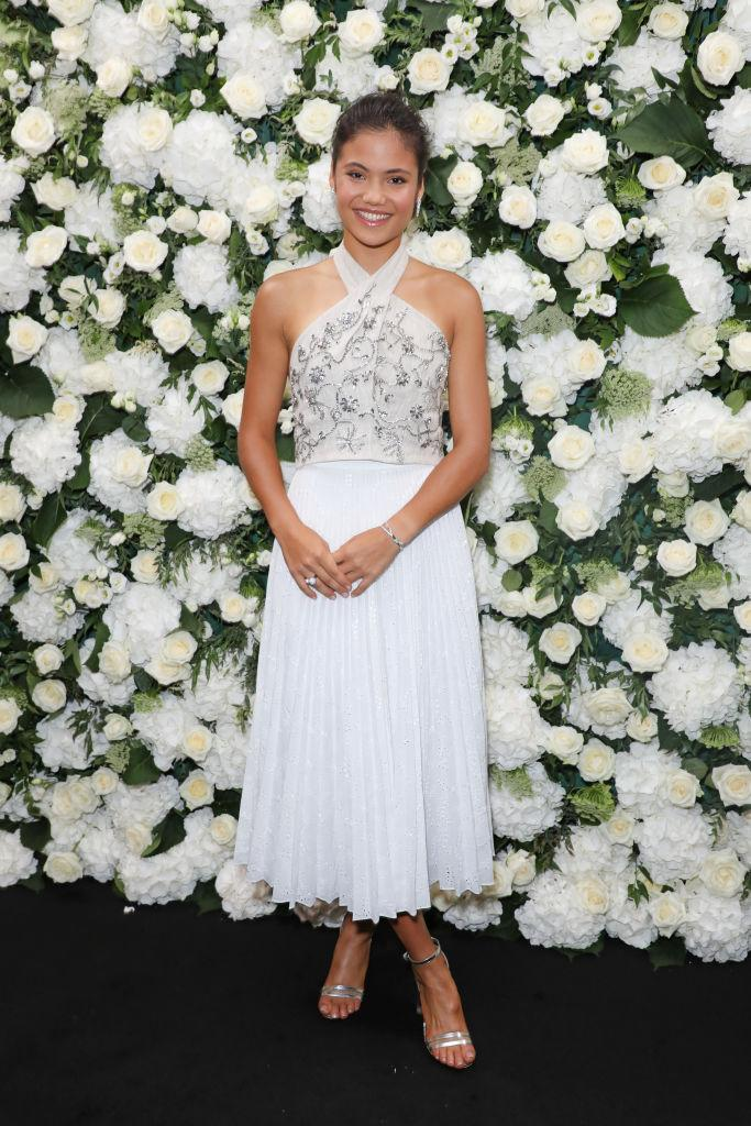 Raducanu attends an intimate dinner and party hosted by British Vogue and Tiffany & Co, September 2021. (Getty)