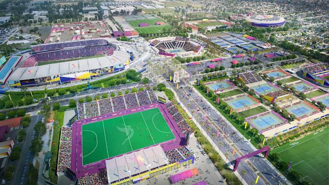 <p>Tennis and Wheelchair Tennis are shown in this South Bay StubHub Stadium rendering. (Photo: Courtesy LA 2024) </p>