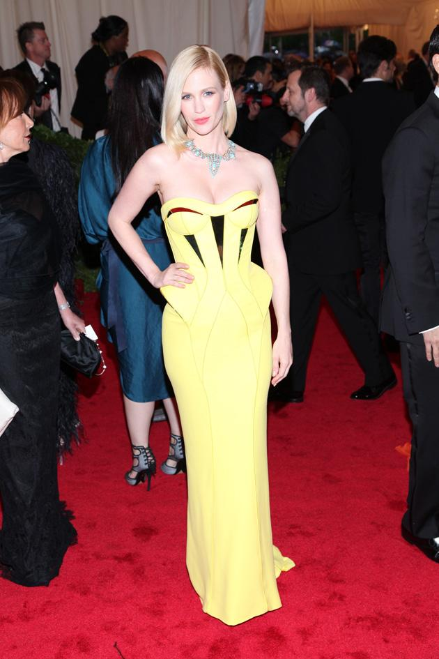January Jones shone like the sun in her yellow number / WENN
