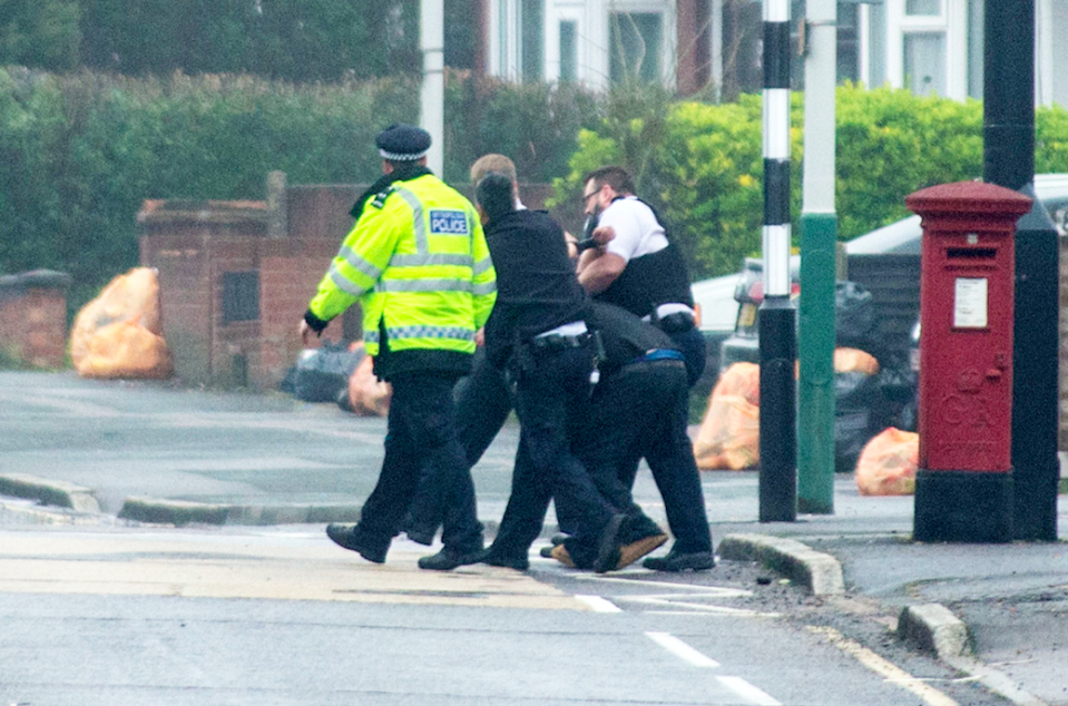 <em>A man has been arrested close to the petrol station but it is not clear whether this is linked to the shooting (SWNS)</em>