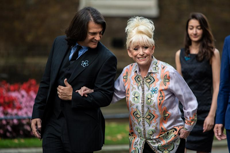 The former actress arrives at Downing Street with her husband (Getty Images)