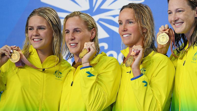 The doping scandal cost Shayna Jack (far left) her spot in Australia's relay team. Pic: Getty