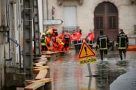 The Charente River in Saintes overflows after days of serious weather conditions