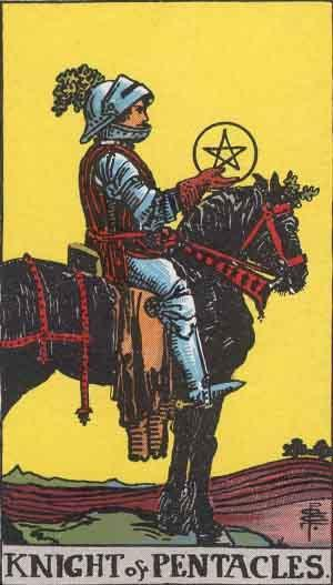 Knight of Pentacles card. Photo: Wikimedia Commons