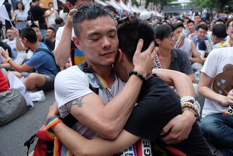 LGBT Taiwan court rules in favour of gay marriage in Asia first