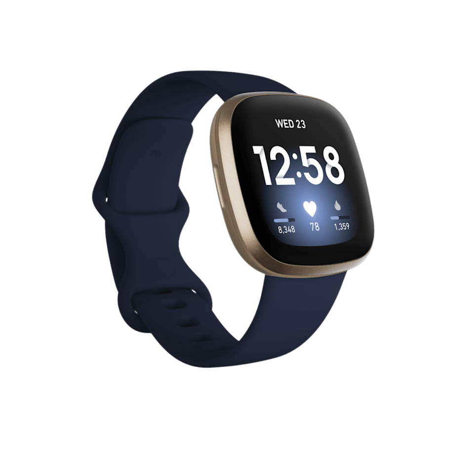 """<p><strong>Fitbit</strong></p><p>fitbit.com</p><p><strong>$229.95</strong></p><p><a href=""""https://www.fitbit.com/global/us/products/smartwatches/versa3"""" rel=""""nofollow noopener"""" target=""""_blank"""" data-ylk=""""slk:Shop Now"""" class=""""link rapid-noclick-resp"""">Shop Now</a></p><p>Wouldn't it be nice to go for a hike in the woods without your phone? Well, you can with this one because it has a built-in GPS. Make sure you download the Spotify or Pandora app on the watch so you can turn up your favorite tunes.</p>"""