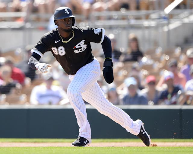 Top White Sox prospect Luis Robert is expected to open with the team after signing an extension, and could immediately become one of the most electrifying players in the division. (Photo by Ron Vesely/Getty Images)