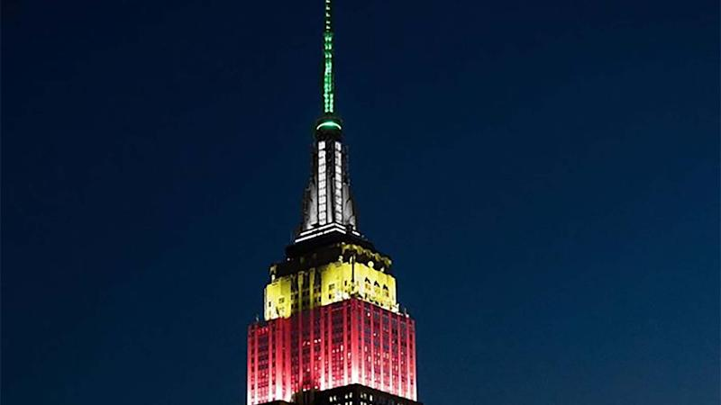 Empire State Building lit up in honor of Palmer's 90th birthday